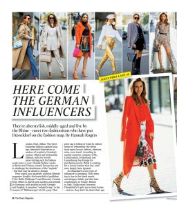 The Times Magazine - 2021 page 50 - Here come the German influencers - Alexandra Lapp