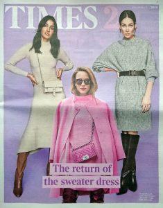 The Times Magazine - Times 2- 2019 12 11 - The return of the sweater dress - Alexandra Lapp