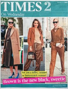 The Times Magazine - Times 2 - 2020 02 12 - cover - brown is the new black, sweetie! - Alexandra Lapp