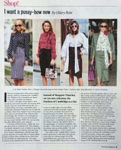 The Times Magazine - Times 2 - 2020 02 16 - Page 63 - i want a pussy bow now - Alexandra Lapp
