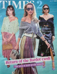 The Times Magazine - Times 2 - 2020 05 20 - Return of the Bardot cardi - The sexy It knit of the season - Alexandra Lapp