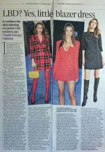 The Times Magazine - Times 2 - 2020 09 page 4-5 - LBD Yes little blazer dress - Alexandra Lapp