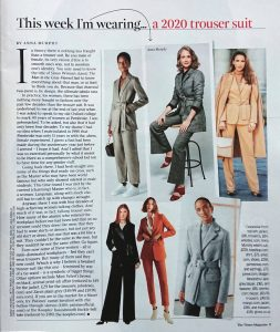 The Times Magazine - Times 2 - 2020 10 11 - Page 9 - This week I'm wearing a 2020 trouser suit - Alexandra Lapp