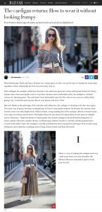 The cardigan returns - How to wear it without looking frumpy - harpersbazaar com - 2018 01 09 - Alexandra Lapp - found on http://www.harpersbazaar.com/uk/fashion/shows-trends/g14854269/cardigan-trend-2018-ideas/
