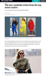 The new wardrobe tricks from the top street stylers - The Times co uk - 2019 03 13 - Alexandra Lapp - found on https://www.thetimes.co.uk/article/the-new-wardrobe-tricks-from-the-top-street-stylers-ltrsd08mm