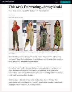 This week I'm wearing dressy - khaki - The - Times- Magazine - thetimes.co.uk - 2019 07 20 - Alexandra Lapp - found on https://www.thetimes.co.uk/magazine/the-times-magazine/this-week-im-wearing-dressy-khaki-8d5gq5mpk