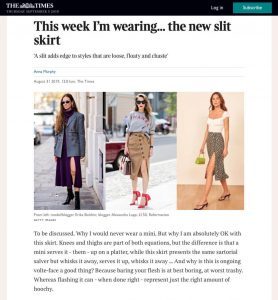 This week I'm wearing the new slit skirt - The Times Magazine - thetimes.co.uk - 2019 08 31 - Alexandra Lapp - found on https://www.thetimes.co.uk/edition/the-times-magazine/this-week-im-wearing-the-new-slit-skirt-ccxxkbpnj