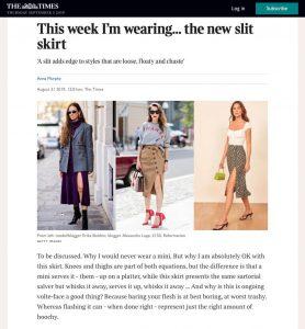 This week I'm wearing the new slit skirt - The Times Magazine - thetimes.co.uk - 2019 08 31 - Alexandra Lapp - found on https://www.thetimes.co.uk/edition/the-times-magazine/this-week-im-wearing-the-new-slit-skirt-ccxxkbpnj