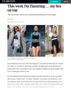This week I'm flaunting my bra on top - The Times Magazine - The Times - The Sunday Times - 2017 04 - Alexandra Lapp - found on https://www.thetimes.co.uk/article/this-week-im-flaunting-my-bra-on-top-gw3czwzd7