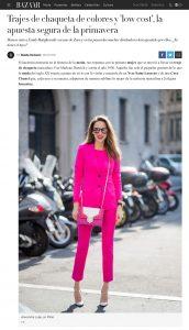Trajes de chaqueta de colores y low cost la apuesta segura de la primavera - Harpers BAZAAR - 2018 02 18 - Alexandra Lapp - found on https://www.harpersbazaar.com/es/moda/tendencias/a18920031/trajes-de-chaqueta-colores-zara-uterque-gucci-emily-ratajkowski-primavera-street-style/