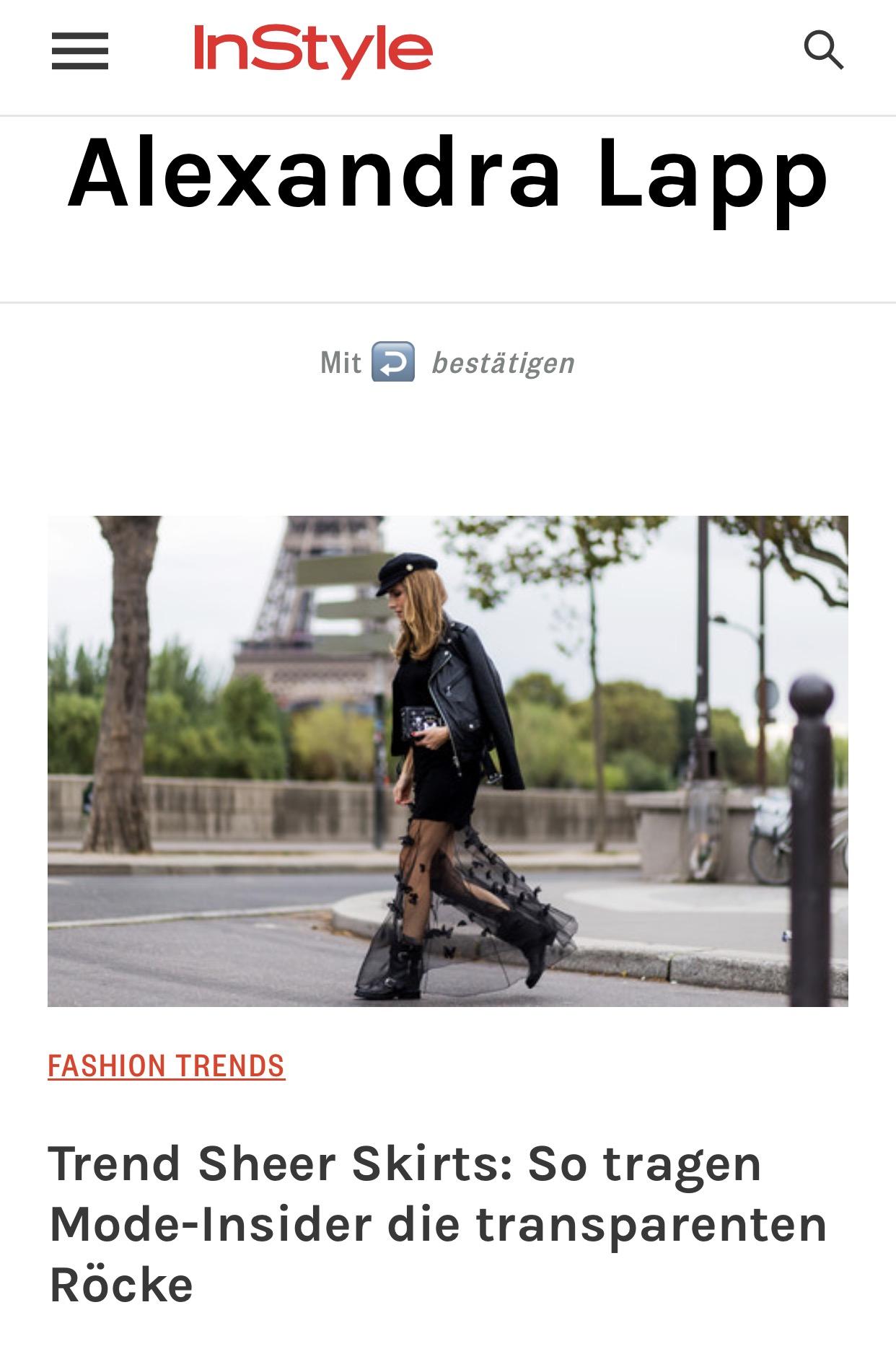 Trend Sheer Skirts - instyle - 2017-03 - Alexandra Lapp
