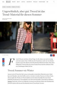 Tweed: Das Trend-Material für Röcke und Kleider - ELLE Germany online - 2018 05 18 - Alexandra Lapp - found on https://www.elle.de/trend-stoff-tweed