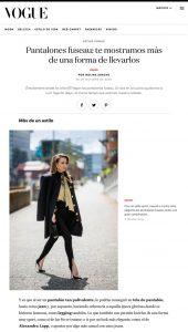 Vogue Mexico online - vogue.mx - 2020 10 26 - Alexandra Lapp - found on https://www.vogue.mx/moda/articulo/pantalones-fuseau-como-llevarlos