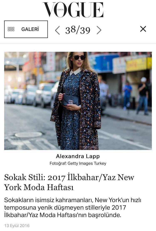 Alexandra Lapp Street Style at New York Fashion Week 2016 - Photo by Christian Vierig - Found on http://vogue.com.tr