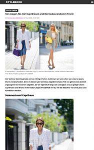 Von wegen No-Go! Caprihosen und Bermudas sind jetzt Trend - STYLEBOOK Germany Online - stylebook.de - 2020 07 17 - Alexandra Lapp - found on https://www.stylebook.de/fashion/caprihosen-richtig-tragen?amp