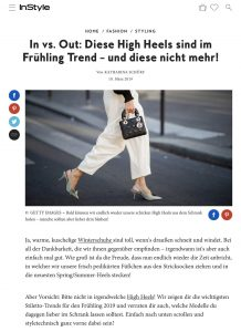 Welche High Heel im Frühling angesagt sind und welche nicht mehr - InStyle Germany online - 2019 03 10 - Alexandra Lapp - found on https://www.instyle.de/fashion/in-vs-out-high-heels-fruehling