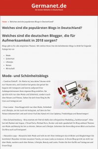 Welches sind die populärsten Blogs in Deutschland - Germanet de - 2018 06 - Alexandra Lapp - found on http://www.germanet.de/welches-sind-die-popularsten-blogs-deutschland/