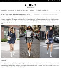 White ankle boots are in trend for this summer - Chiko Shoes - 2017 06 - Alexandra Lapp - found on http://www.chikoshoes.com/white-ankle-boots-are-in-trend/