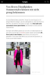 Wir sind ganz verrückt nach diesen 3 pinken Sommerstyles - Stylight Germany Online - stylight.de - 2020 07 18 - Alexandra Lapp - found on https://www.stylight.de/Magazine/Fashion/3-Knallpinke-Sommerstyles/