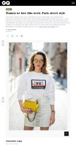 Women we love this week - Paris street style GQ-Magazine co uk - 2018 03 08 - Alexandra Lapp - found on http://www.gq-magazine.co.uk/gallery/women-we-love-this-week-paris-street-style