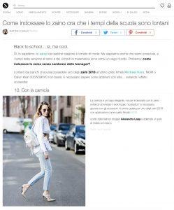 Zaini 2018 i modelli hot e come abbinarli fuori da scuola - Stylight Italy - 2018 07 19 - Alexandra Lapp - found on https://www.stylight.it/Magazine/Fashion/Zaini-2018-Come-Indossare-Lo-Zaino/