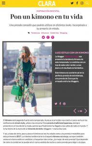 Clara Spain - Pon un kimono en tu vida - 2017 05 - Alexandra L app - found on http://www.clara.es/moda/como-llevar-kimono_10845