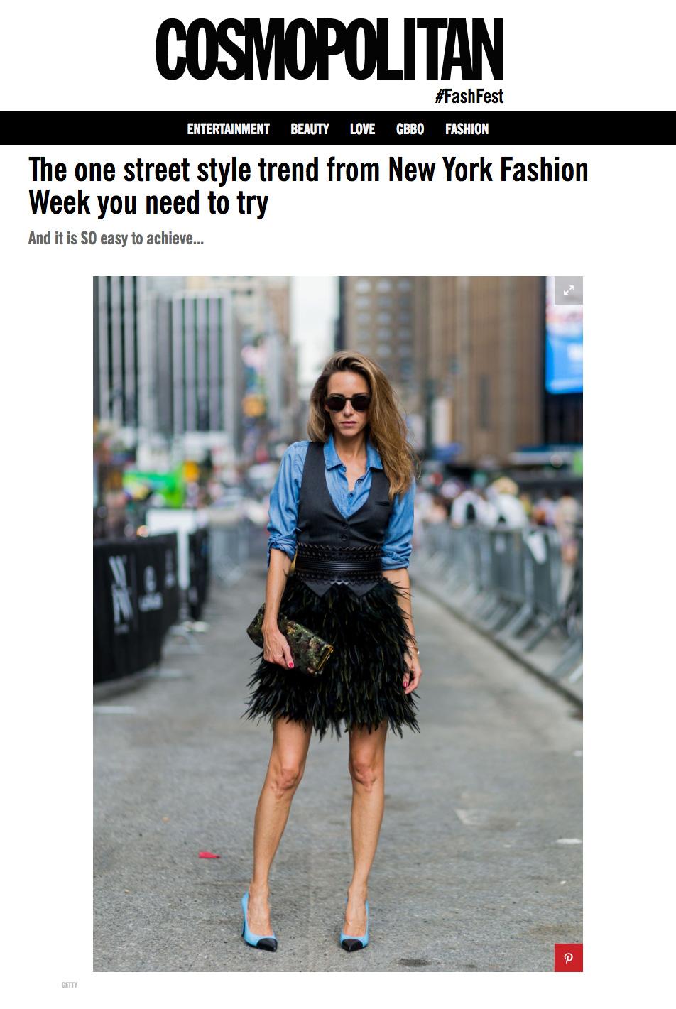 Alexandra Lapp Street Style at New York Fashion Week 2016 - Photo by Christian Vierig - Found on www.cosmopolitan.co.uk