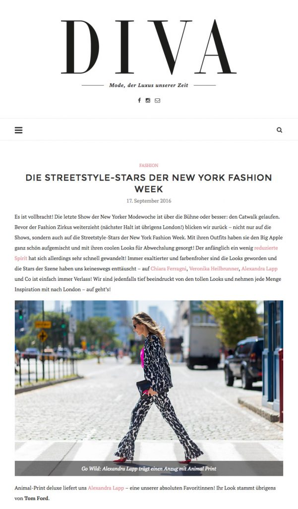 Alexandra Lapp Street Style at New York Fashion Week 2016 - Found on www.diva-online.at