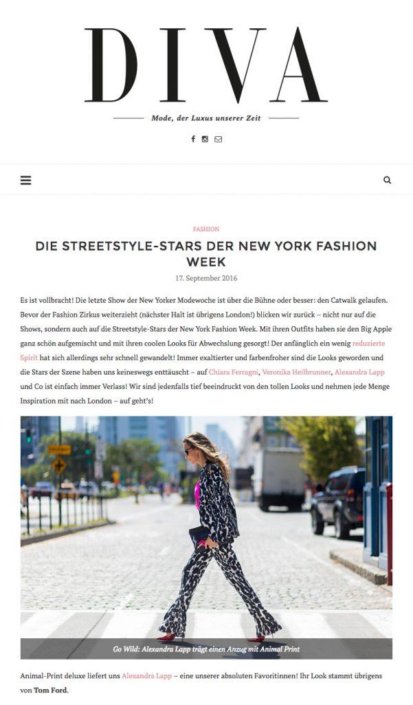 Alexandra Lapp Street Style at New York Fashion Week 2016 - Found on www.diva-online.at