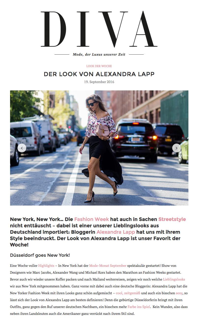 Alexandra Lapp Street Style Look at New York Fashion Week 2016 - Photo by Christian Vierig - Found on http://www.diva-online.at/der-look-von-alexandra-lapp