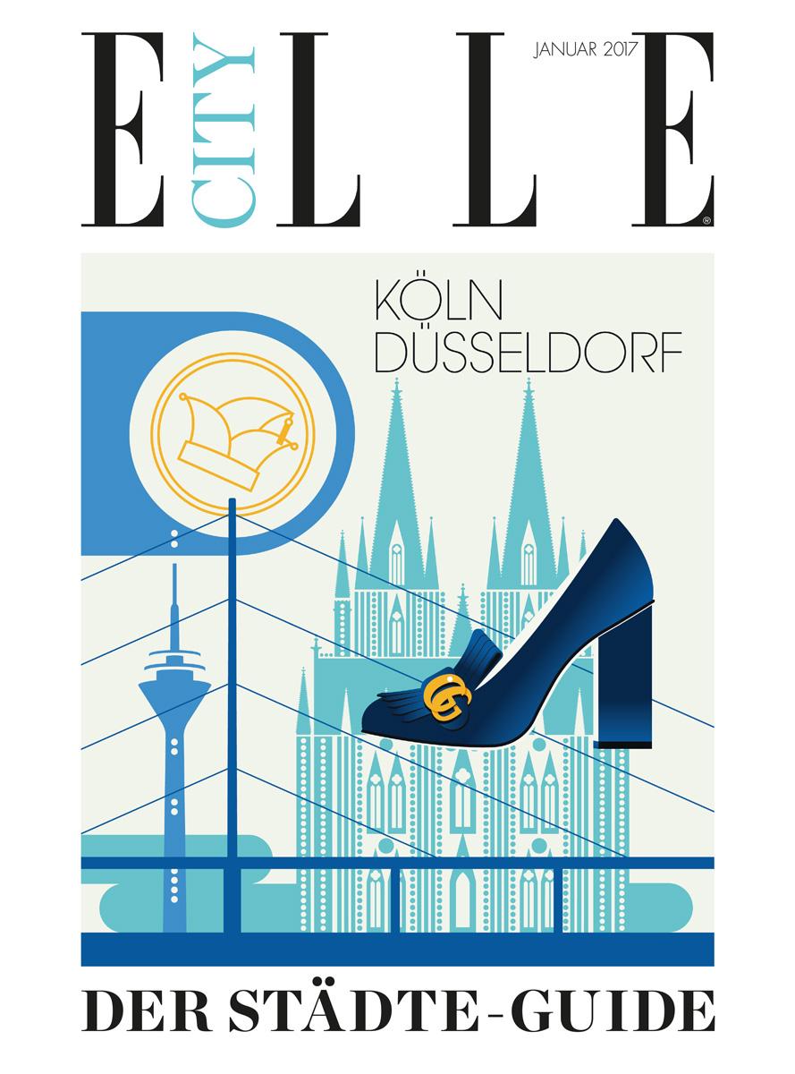 Alexandra Lapp column for Elle City Düsseldorf - Cover - http://www.elle.de