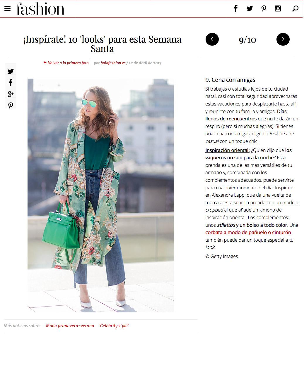 fashion hola - inspirate - 10 looks para esta Semana Santa - Foto 9 - 2017 04 - Alexandra Lapp - found on http://fashion.hola.com/tendencias/galeria/2017041263163/looks-semana-santa/9/