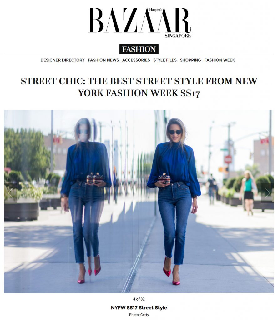 Alexandra Lapp Street Style with back to front shirt at New York Fashion Week 2016 - Photo by Christian Vierig - Found on www.harpersbazaar.com.sg