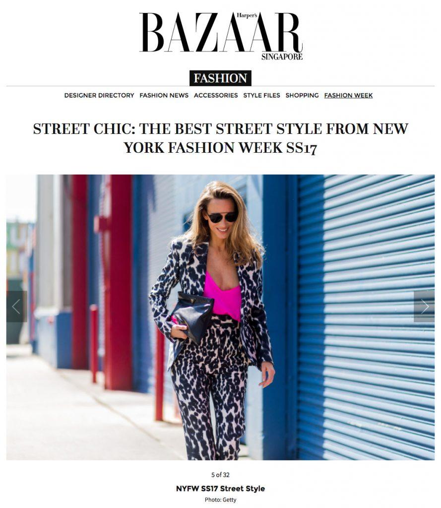 Alexandra Lapp Street Style at New York Fashion Week 2016 - Found on www.harpersbazaar.com.sg