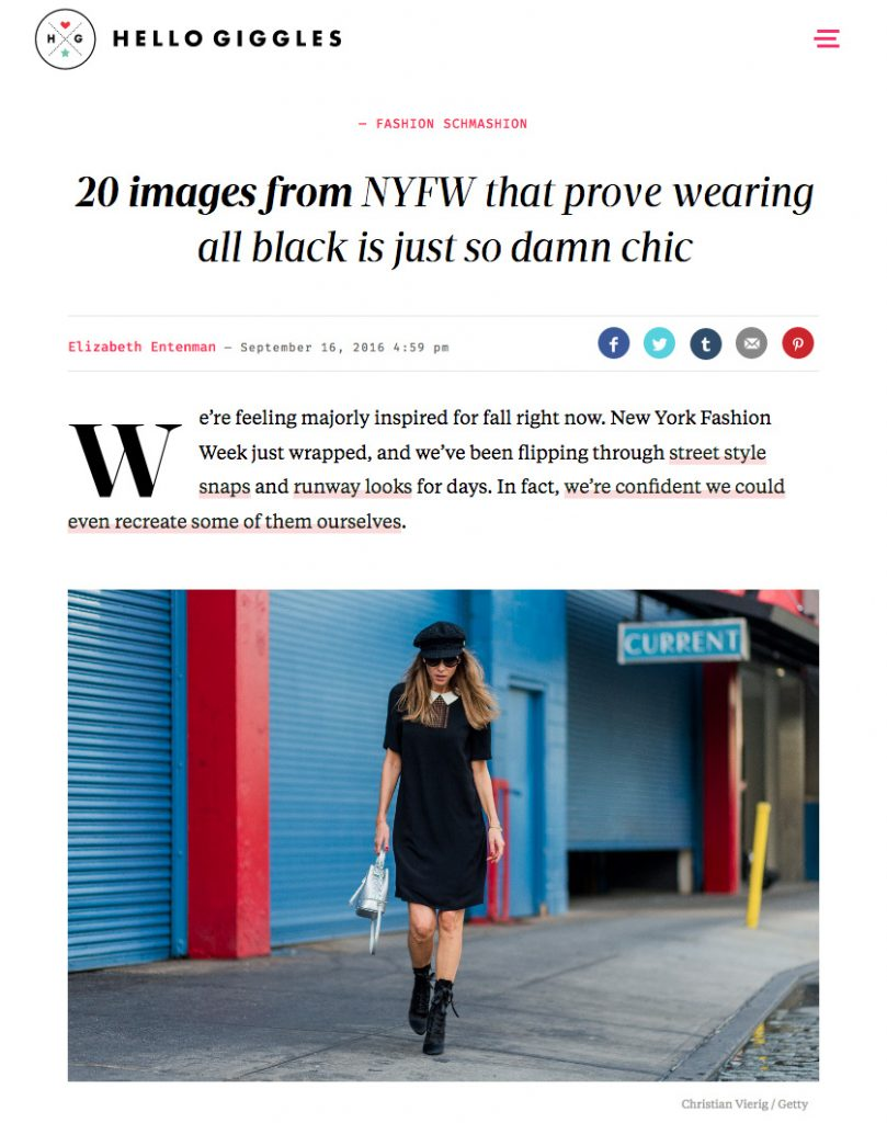 Alexandra Lapp Street Style at New York Fashion Week 2016 - Photo by Christian Vierig - Found on www.http://hellogiggles.com