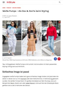 instyle - Trendschuhe im Frühling- Weiße Pumps - 2017 04 - Alexandra Lapp - found on http://www.instyle.de/fashion/weisse-pumps