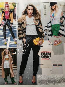 logo tee - hello magazine - no 9 2018 page 86 - Alexandra Lapp