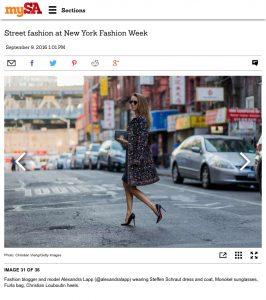 Alexandra Lapp Street Style at New York Fashion Week 2016 - Photo by Christian Vierig - Found on www.mysanantiono.com