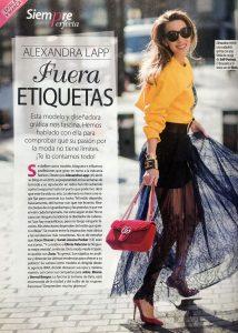 Stilo Magazine Spain - 2018 09 - Nr. 89 - page 30 - fuera equietas - Alexandra Lapp