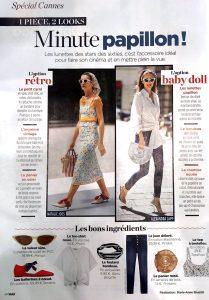 Voici Magazine France - Page 46 - minute papillon - Alexandra Lapp