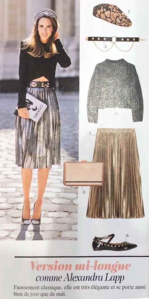 Alexandra Lapp in Voici Magazine - Column - http://www.voici.fr/