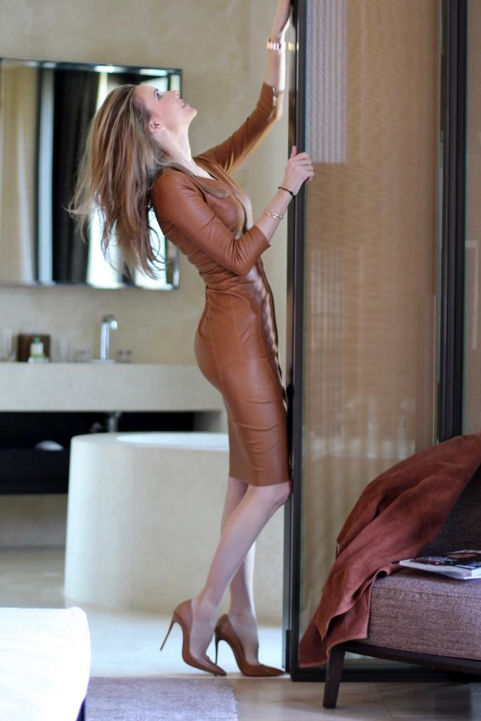 Alexandra wearing Steffen Schraut, Christian Louboutin, Aphero, Bulgari Hotel