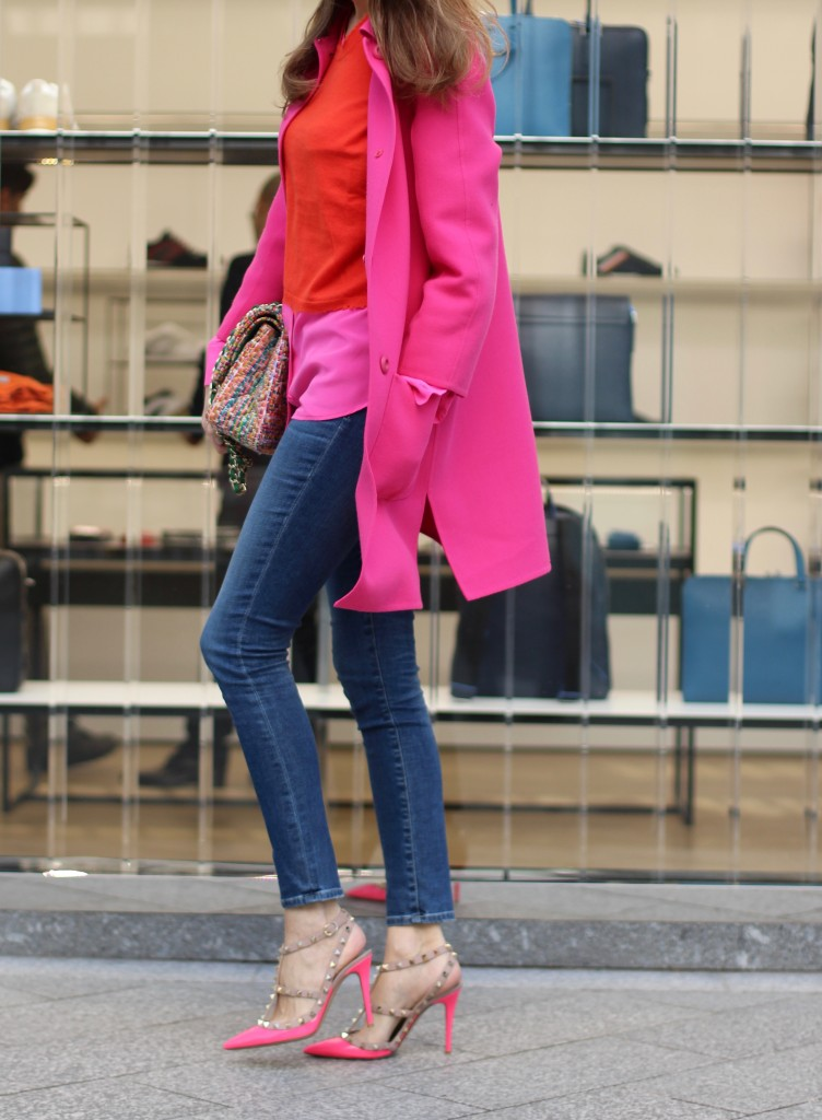Alexandra Lapp wearing Prada, Chanel, AG Jeans, Equipment, Parentis, Valentino, Ray-Ban, Cartier