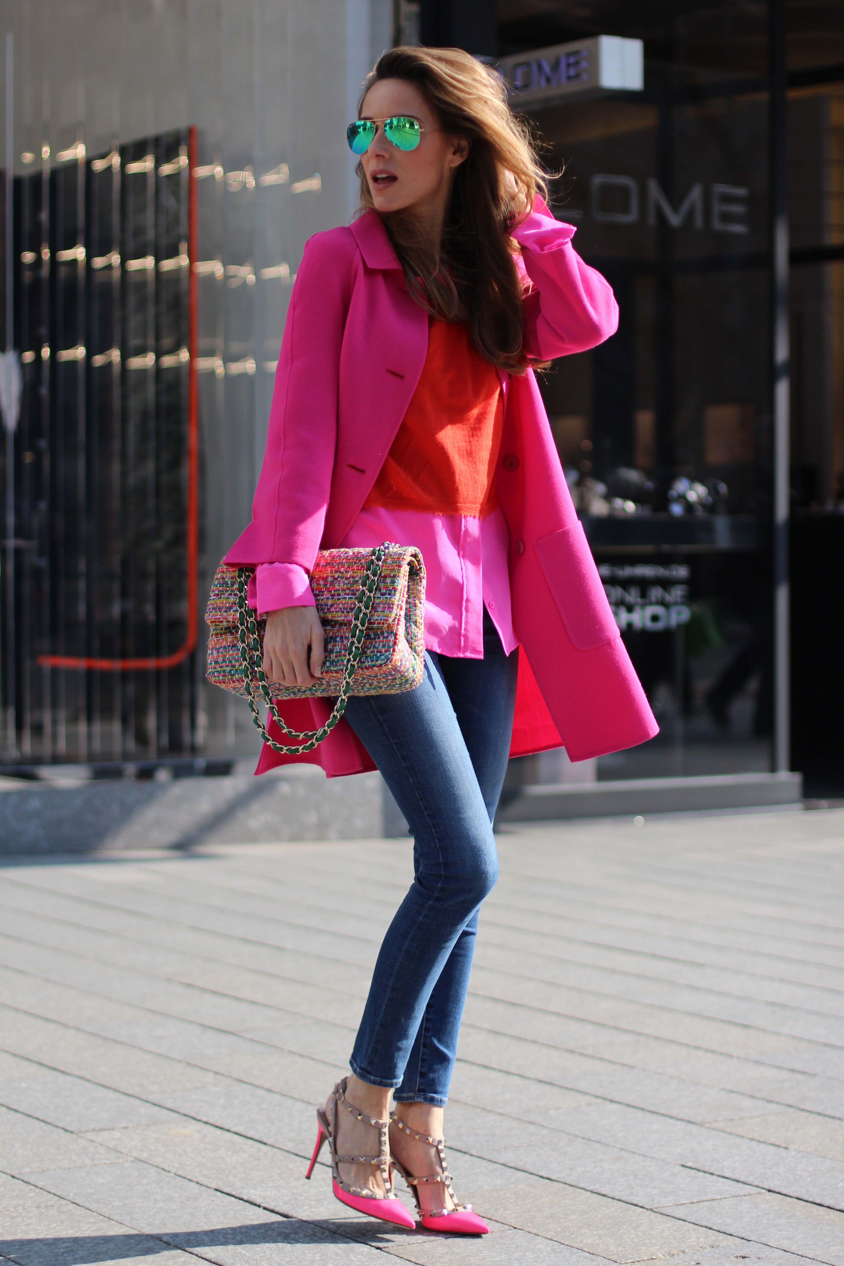 ... Alexandra Lapp wearing Prada, Chanel, AG Jeans, Equipment, Parentis, Valentino, ...
