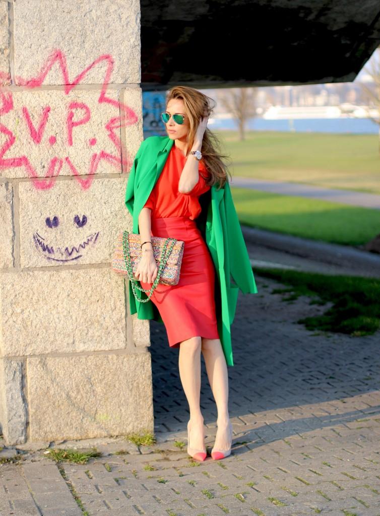 Alexandra Lapp wearing American Retro, Parentis, Stella McCartney, Chanel, Manolo Blahnik, Ray-Ban, Cartier