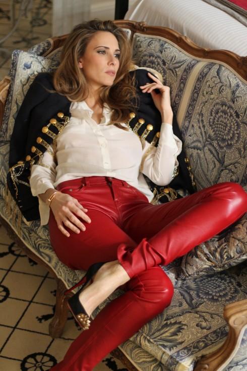 Alexandra Lapp wearing Balmain, 0039-Italy, Saint Laurent, Christian Louboutin, Gucci