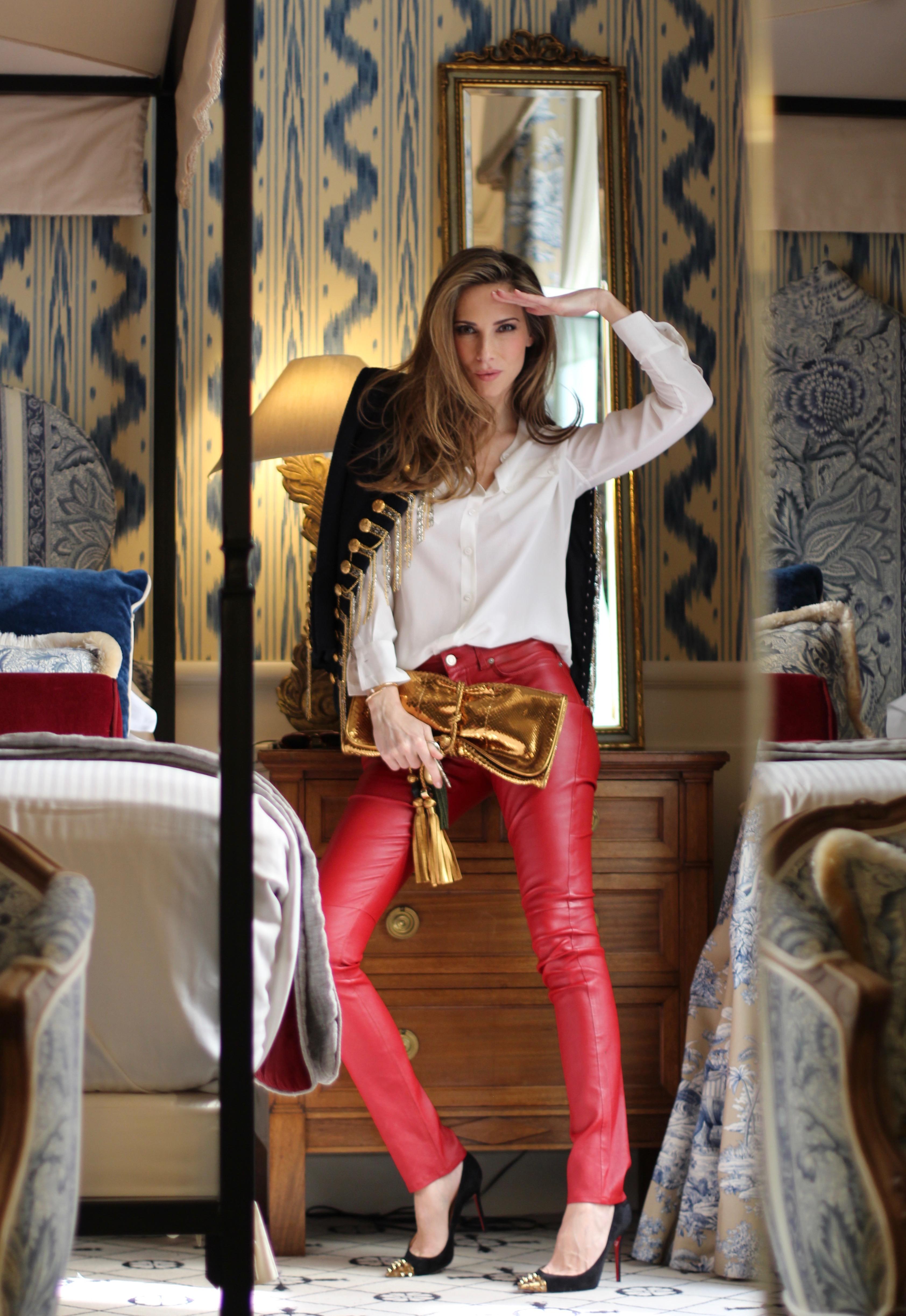 ... Gucci · Alexandra Lapp wearing Balmain, 0039-Italy, Saint Laurent, Christian Louboutin, ...