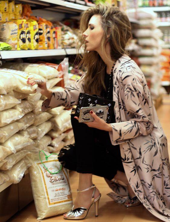 Alexandra Lapp wearing a Kimono from Top Shop, Frame, Miu Miu, Chanel, Louis Vuitton, Chiara Ferragni, Parentis