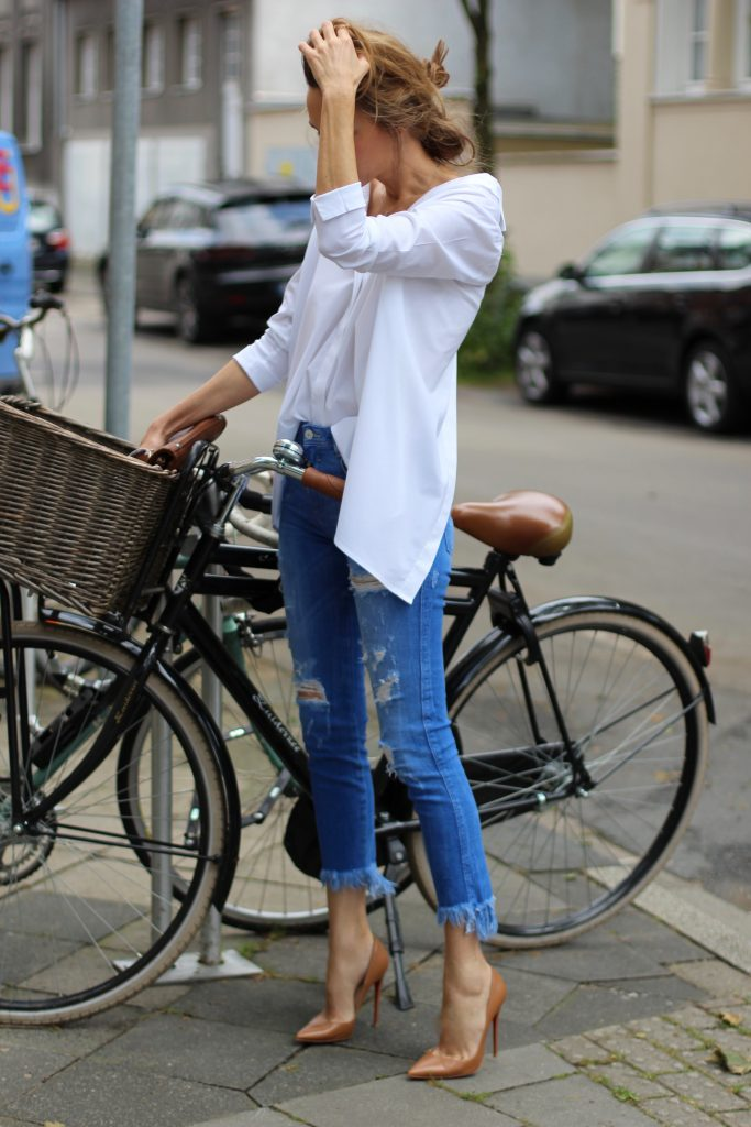 White Wrap Shirt Blouse