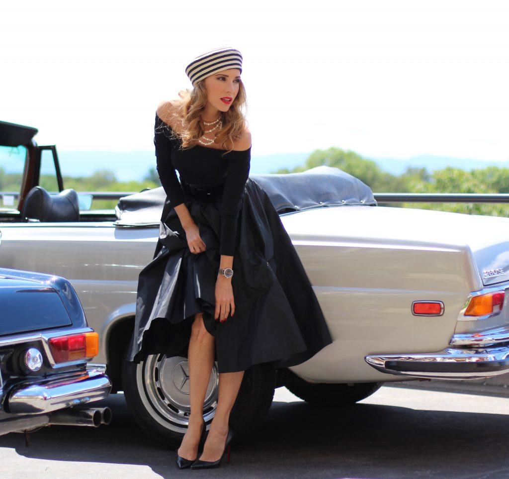 Alexandra Lapp wearing IWC watch, Portofino, Gucci, Tibbi, Dolce Gabbana, Chanel, Christian Louboutin, Mac, Armani